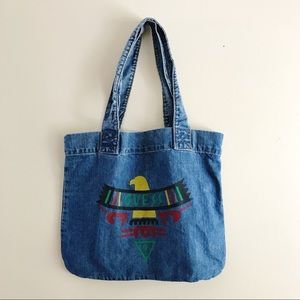 Vintage Guess Georges Marciano Denim Tote